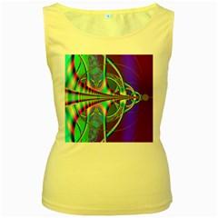 Design Womens  Tank Top (yellow)