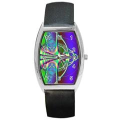 Design Tonneau Leather Watch