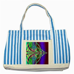 Design Blue Striped Tote Bag