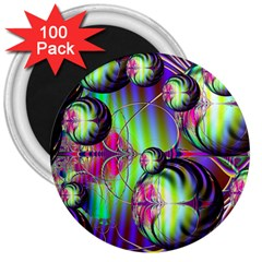 Balls 3  Button Magnet (100 pack)