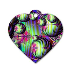Balls Dog Tag Heart (One Sided)