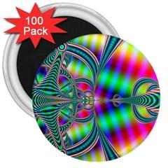 Modern Art 3  Button Magnet (100 Pack)