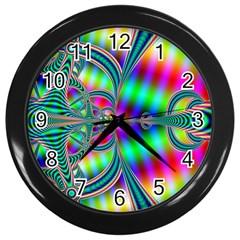 Modern Art Wall Clock (Black)