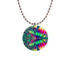 Modern Art Button Necklace