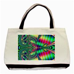 Modern Art Twin-sided Black Tote Bag