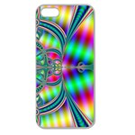 Modern Art Apple Seamless iPhone 5 Case (Clear) Front