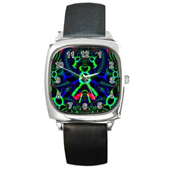 Dsign Square Leather Watch