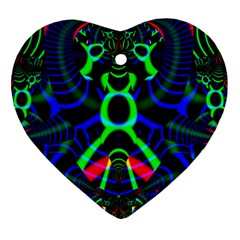 Dsign Heart Ornament (two Sides)