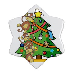 Monkey Business Snowflake Ornament (Two Sides)