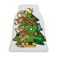 Monkey Business Bell Ornament (two Sides)