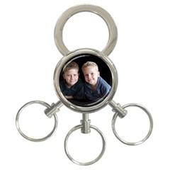 Deborah Veatch New Pic Design7  3-Ring Key Chain