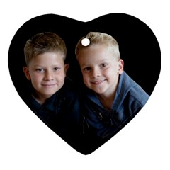 Deborah Veatch New Pic Design7  Heart Ornament (Two Sides)