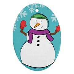 Snowman Oval Ornament