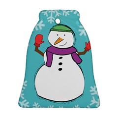 snowman Bell Ornament (Two Sides)