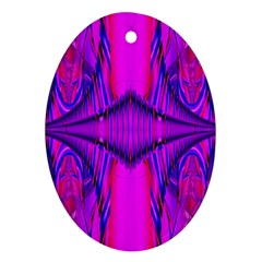 Modern Art Oval Ornament (Two Sides)