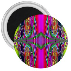 Modern Art 3  Button Magnet