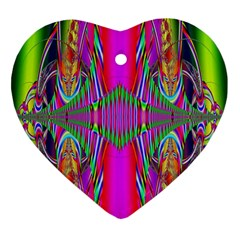 Modern Art Heart Ornament