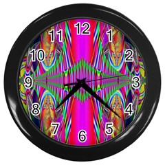 Modern Art Wall Clock (Black)