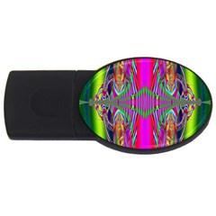 Modern Art 4GB USB Flash Drive (Oval)