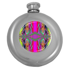 Modern Art Hip Flask (Round)