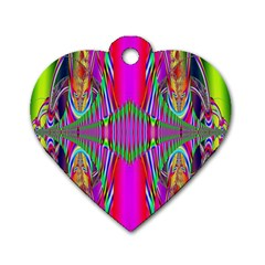 Modern Art Dog Tag Heart (Two Sided)