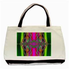Modern Art Twin-sided Black Tote Bag