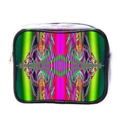 Modern Art Mini Travel Toiletry Bag (One Side)
