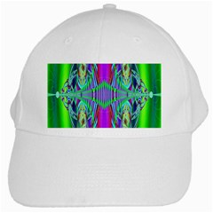 Modern Design White Baseball Cap