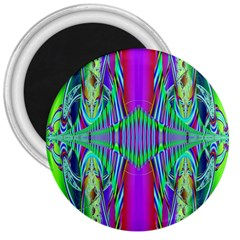 Modern Design 3  Button Magnet