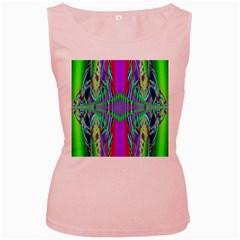 Modern Design Womens  Tank Top (pink)