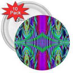 Modern Design 3  Button (10 pack)