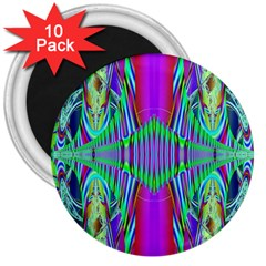 Modern Design 3  Button Magnet (10 pack)