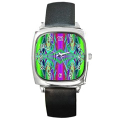Modern Design Square Leather Watch