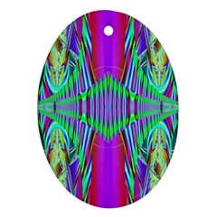 Modern Design Oval Ornament (Two Sides)