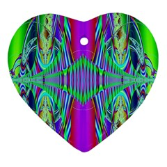 Modern Design Heart Ornament (Two Sides)