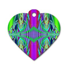 Modern Design Dog Tag Heart (One Sided)
