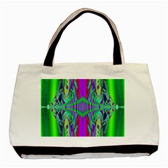 Modern Design Twin-sided Black Tote Bag