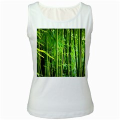 Bamboo Womens  Tank Top (White)