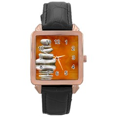 Balance Rose Gold Leather Watch