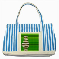 Balance Blue Striped Tote Bag