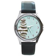 Balance Round Metal Watch (Silver Rim)