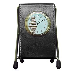 Balance Stationery Holder Clock