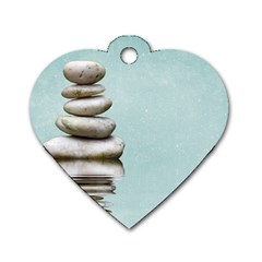 Balance Dog Tag Heart (One Sided)