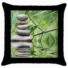Balance Black Throw Pillow Case