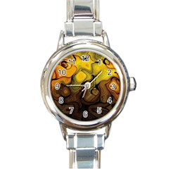Modern Art Round Italian Charm Watch