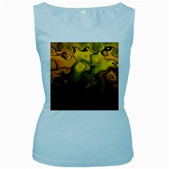 Modern Art Womens  Tank Top (Baby Blue)