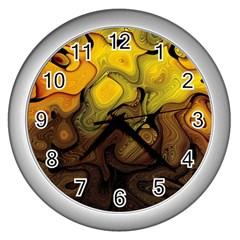 Modern Art Wall Clock (Silver)