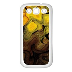 Modern Art Samsung Galaxy S3 Back Case (White)