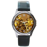 Magic Balls Round Metal Watch (Silver Rim) Front