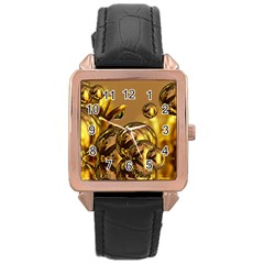 Magic Balls Rose Gold Leather Watch
